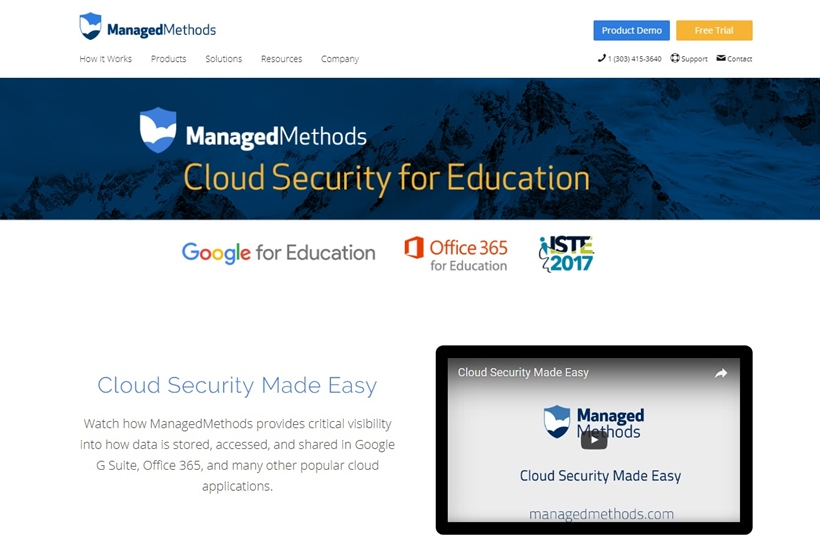 Cloud Security Solutions Provider ManagedMethods Offers Security Solution in the UK