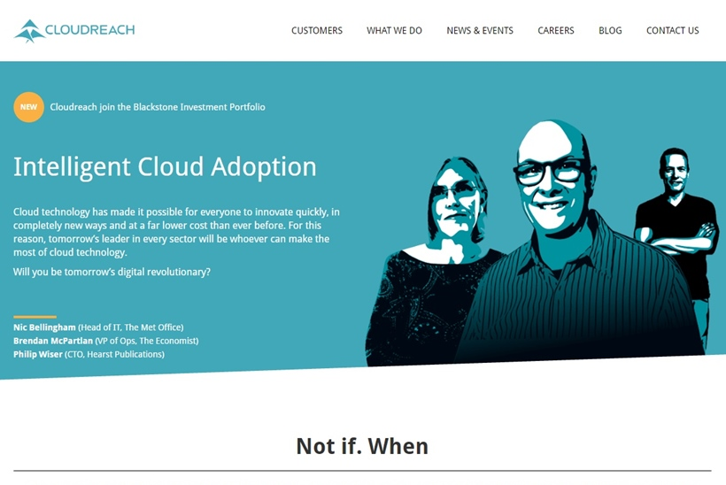 The Blackstone Group Acquires Cloud Computing Company Cloudreach